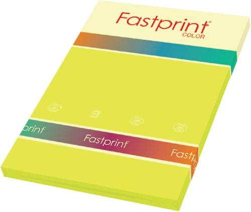 Kopieerpapier Fastprint A4 120gr zwavelgeel 100vel