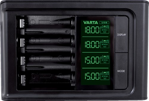 Batterij oplader Varta LCD Smart incl. 4x2100MAH-2