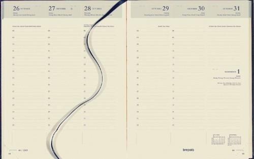 Agenda 2022 Brepols Timing 7dag/2pagina's 6-talig blauw