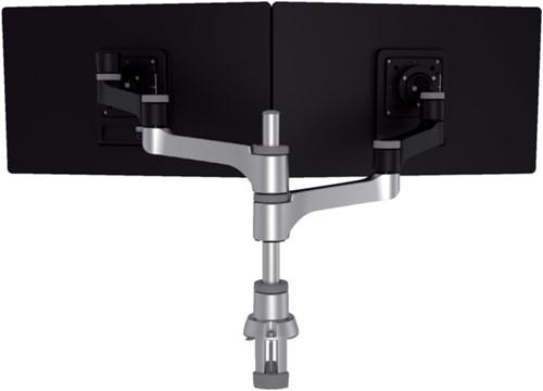 Monitorarm R-Go-Tools Zepher 4 voor 2 schermen zwart- zilver