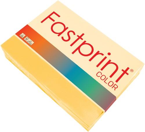 Kopieerpapier Fastprint A4 160gr diepgeel 250vel