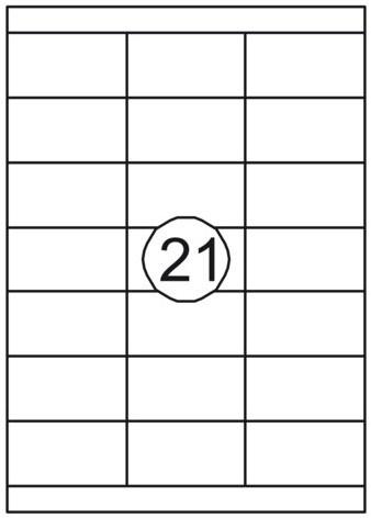 Etiket Quantore 70x38.1mm 2100stuks