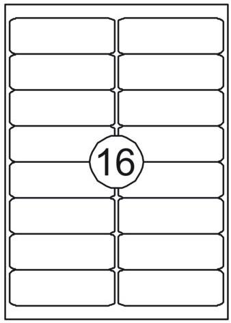 Etiket Quantore 99.1x33.8mm 1600stuks