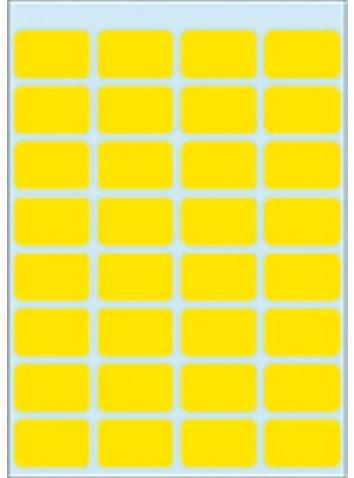 Etiket Herma 3641 12x19mm geel 160stuks