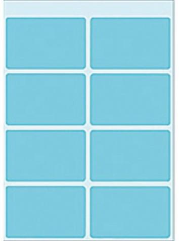 Etiket Herma 3693 25x40mm blauw 40stuks