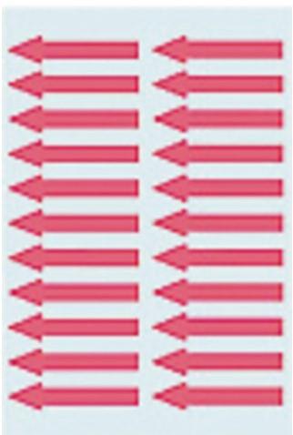 Etiket Herma 4143 38x7mm pijl rood 88stuks