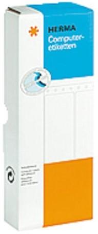 Etiket Herma 8163 101.6x48.4mm 1-baans wit 2000stuks