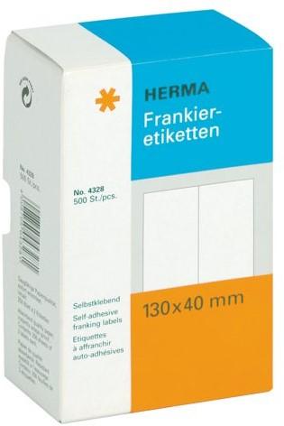 Frankeeretiket Herma 4328 130x40mm 500stuks dubbel