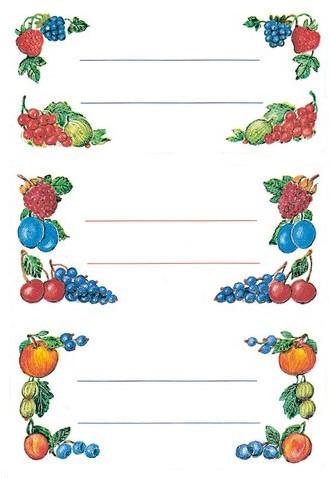 Etiket Herma keuken fruit