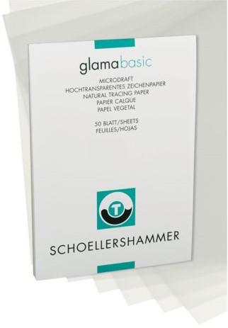 Ontwerpblok Schoellershammer A4 80-85gr transparant 50vel