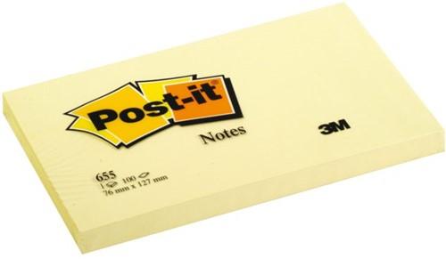 Memoblok 3M Post-it 655 76x127mm geel