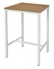 Sta/ bar tafel Tica 110cm hoog blad 80x80cm frame 5x5cm