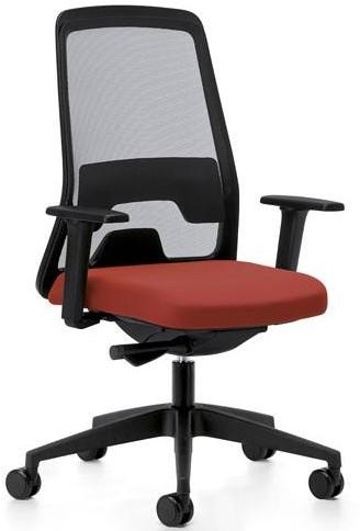 Every bureaustoel- EV211 - rug netbespanning - synchroontechniek - kunstof delen zwart - 4D armleggers