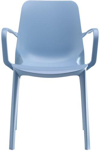 Scab Ginevra Braccio stoel met armleggers lichtblauw