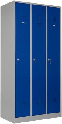 Garderobekast 3 delig 1 hoog - 185 hoog - cilinderslot legbord - snellevertraject