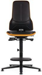Bimos Neon 3 met opstaphulp en glijders  zitdiepte/ neig/ synchroontechniek alu zwart voetkruis