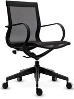 ASIS Mercury bezoekers/werk stoel lage rug - frame nylon zwart - 2Dmesh zwart-2