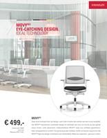 Movy 14M6 Bureaustoel NPR - zwart kunststof - synchroon/zitdiepte/neig/lendenstuen - 3D armleg. - Royal zwart -3
