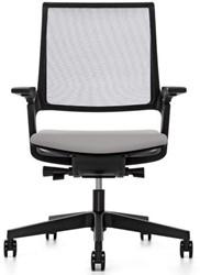 Movy 14M6 Bureaustoel - Era stoffering - netbespanning - synchroon/zitdiepte/lendenstuen - armleggers