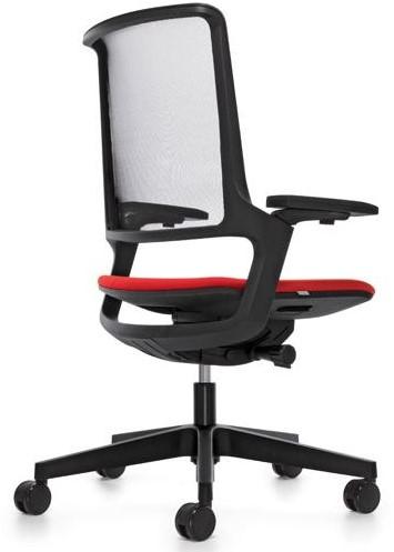 Movy 14M6 Bureaustoel NPR - zwart kunststof - synchroon/zitdiepte/neig/lendenstuen - 3D armleg. - Royal zwart