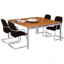 NOW vergader/ bureautafel 160x160 cm HI melamine blad