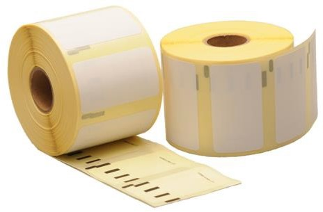 Etiket Rillstab R11354 formaat 57x32 mm - rol a 1000 stuks - wit non permanent
