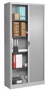 Roldeurkast 198cm hoog 80cm breed incl. 4 legborden kunststof deuren