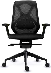 Asis Suit bureaustoel - frame nylon zwart - zitting zwart - rug 3D zwart