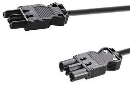 Verbindingskabel 2m zwart met GST18® aansluiting