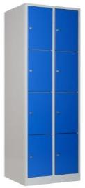 Garderobekast 2 delig 4 hoog - 185hx60bx50d cm - cilinderslot/rechtsdraaiend - snellevertraject