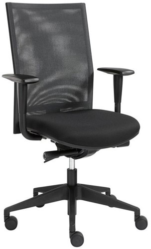 Venus bureaustoel zitting gestoffeerd gaasrug armleggers