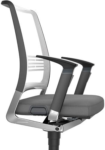Vintage Bureaustoel zitting gestoffeerd, rugleuning netbespanning 17V7-2