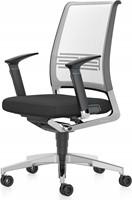 Vintage Bureaustoel zitting gestoffeerd, rugleuning netbespanning 17V7